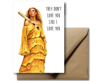 Beyonce Greeting Card Lemonade Yonce Queen B Bey Love Valentines Day Card Illustration
