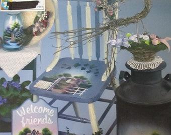 Folk Art décoratif livre «Spécial cadeaux» par Debbie Toews 80 pages 2003 utilisés livre