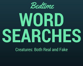 PRINTABLE ~ 5 Pack of Word Searches ~ Creatures and Animals ~ Digital Download