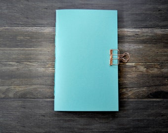 Lagoon Shimmer Travelers Notebook - Midori Insert - Notebook - TN Insert - Planning Insert - Bullet Journal - Various Size