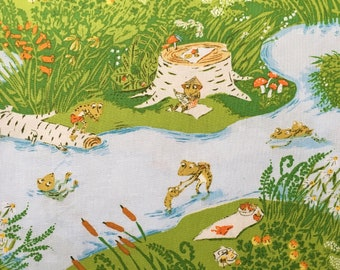FQ or more - Heather Ross Frog Pond Briar Rose Cotton Fabric