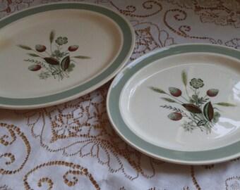 Wood \u0026 Sons \ Clovelly\  Dinner Plates x 2 Oval Mid Century Dinner Plates 1 & Retro dinner plate   Etsy