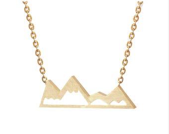 PNW Mountain Necklace