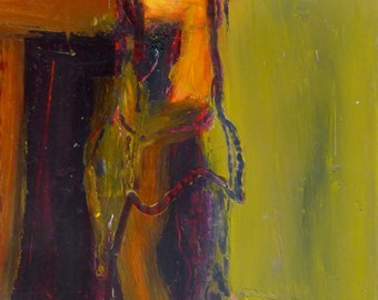 The Figure in the Doorway,  Oil and Cold Wax  original painting