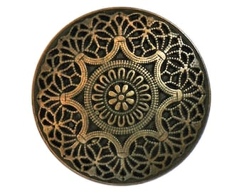 4 Safi 3/4 inch ( 20 mm ) Metal Buttons Brass Color