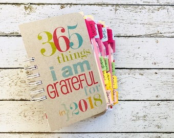 Gratitude Journal , Thankful, Grateful, Gratitude Book, Daily Blessings, Mindfulness, 365 Things I Am Grateful For, Happiness, Thankfulness