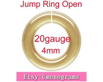 4mm Outside Diameter Open Jump Rings 20 gauge 0.81mm 14K Yellow Gold Filled Wholesale BULK DIY Jewelry Finddings 1/20 14kt GF