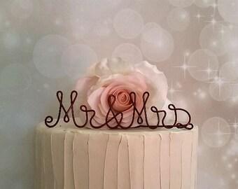 MR & MRS Wedding Cake Topper, Wedding Cake Decoration, Wedding Centerpiece, Bridal Shower, Anniversary, Engagement Party Decoration