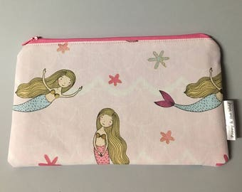 Mermaid Pink Pencil Case / Make Up Bag