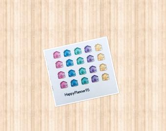 Kawaii house stickers