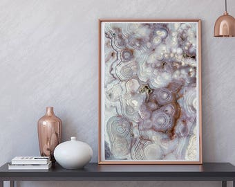 Mineral Photography - (Print # 131) Lace Agate    Fine Art Print - Two Paper Choices- Mineral Geode Agate Crystal Decor