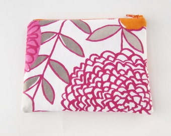 Personalized Zipper Pouch with initials - Makeup bag - Bridesmaid clutches- Small