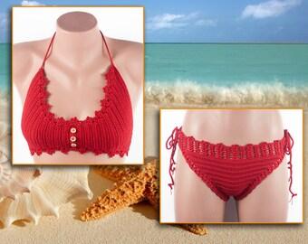 Crochet swimsuit, two-piece swimsuit, fashion summer trends, beachwear by LoveKnittings