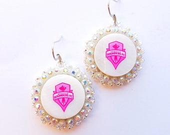 Pink Seattle Sounders Earrings