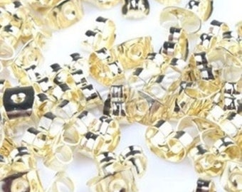 200 Stoppers Gold 6 mm Stud fasteners