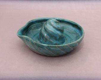 Citrus Pottery Juicer, Ceramic Lemon Reamer, Handmade Wheel Thrown Pottery
