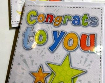 12 cards CONGRATULATIONS CARDS JUST 35p - We also have birthday cards / christmas cards / thank you cards