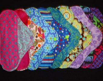 Set of Six (6) Custom Cloth Panty liners