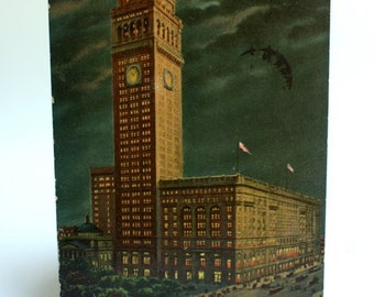 Wall Street Gifts, Old Postcards, New York City Vintage Postcard, Metropolitan Life Building, American Ephemera, Old Postcards