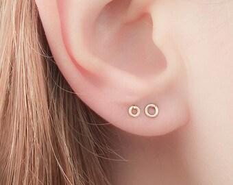 Tiny Circle Earrings - Tiny Round Studs - Tiny Circle Studs - Petite Earrings - Petite Studs - teeny tiny studs - teeny tiny earrings