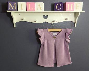 Knit organic cotton baby purple tank 3-6m