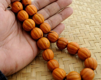 SALE Choose from three colors Konyak Naga Old Vintage  Glass Melon Beads Necklace Nepal  available in Three Colors