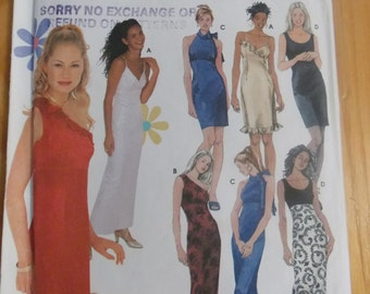 Sewing pattern Simplicity 9590 Misses' evening dress uncut size 11 to 16