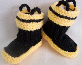 Baby Fireman Booties Crib shoes 0-12M Firefighter rescue baby booties READY TO SHIP