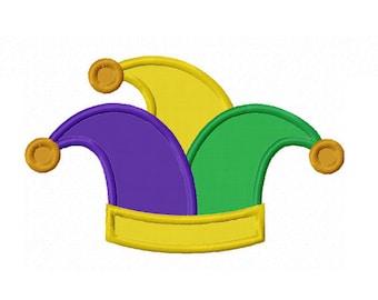 Jester Hat Applique Machine Embroidery Design NO:0129