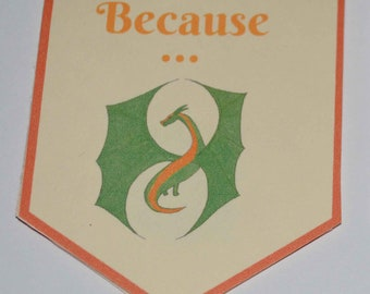 Because ... Dragons magnetic bookmark