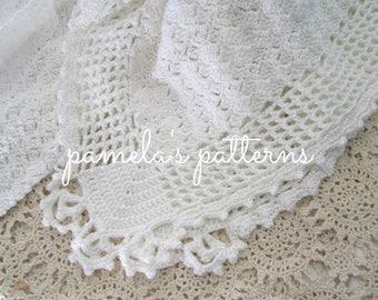 Crochet Aurora Elegance Blanket, PDF ePattern, 30 x 32 inches (76 x 81 cm) approx