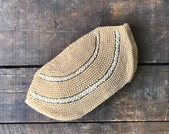 1940's Beaded Clutch Zip Top Pouch