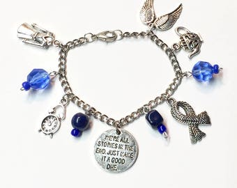Dr. Who charm bracelet-Dr. Who Bracelet-Whovian-Dr. Who fandom-Gift for Dr Who Fan-Dr Who gift for Her-Dr Who Jewelry-fandom bracelet