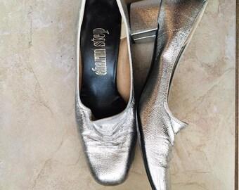 Vintage 1950's Silver Charm Step Heels