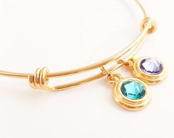 SALE Mothers Bracelet -Mother Bracelet -Grandma Bracelet -Birthstone Bracelet -Adjustable Birthstone Bracelet - Stacking Bracelet - Layering