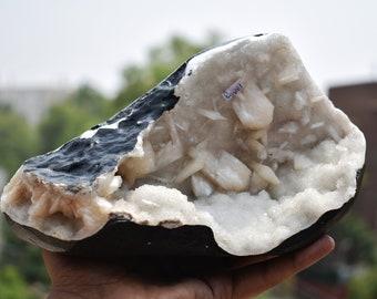 1886 Gm. Zeolite, Spirit Quartz With Stillbite Specimen Chakra Healing Balancing