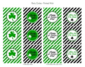PRINTABLE St. Patrick's Day Collection Party Circles - Printed Wish