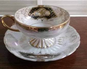 Royal Sealy Lusterware Teacup and Saucer
