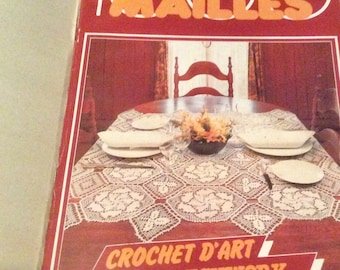 Vintage French magazine 1000 mailes crochet application