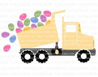 boy easter svg, dump truck svg, easter svg files, easter boy svg, easter dxf, Easter clip art, boy svg files, Easter cut file, easter egg