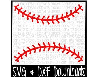 Baseball Thread SVG * Softball Thread SVG Cut File - dxf & SVG Files - Silhouette Cameo, Cricut