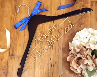 First White Coat Hanger, Pharmacist Gift, New Doctor Gift, PhD Gift, White Coat Ceremony,  Medical School Graduation, Custom Lab Coat Hanger