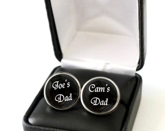 Father Birthday Gift from Kids, Gift for Dad Daughter, Dad Gift from Daughter, Dad Gift from Son, Personalized Cufflinks for Dad, Cufflink