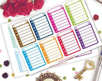 Weekly Sidebar For ECLP Vertical Planner Stickers | Erin Condren | Habit Tracker | Meal Prep | Exercise