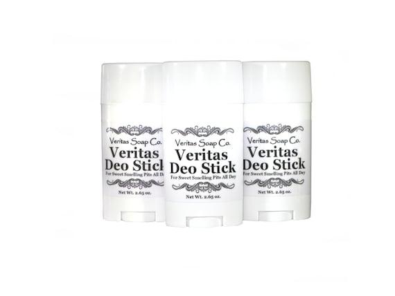 VERITAS DEO STICK - To De-Funk and De-Skunk! With Organic and Natural Ingredients / No Synthetics / No Parabens / Non Nano / Unisex / Teens