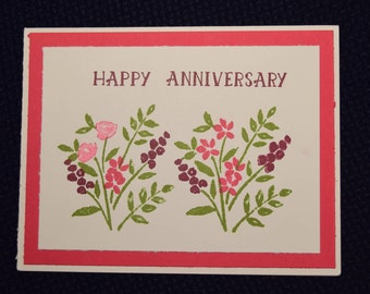 Anniversary Greeting Card - Floral 1
