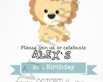 Lion Invitation Children's Birthday
