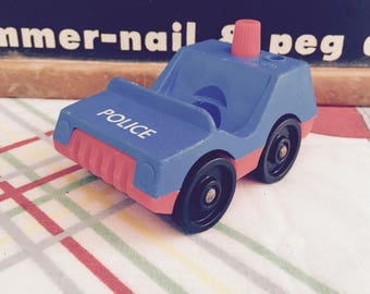 Vintage 1970s Fisher Price Little People Police Car