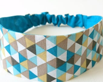 Elastic headband, headband, reversible headband