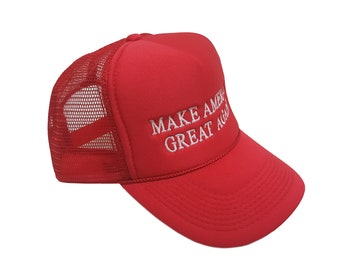 Make America Great Again - Donald Trump Trucker Hat Embroidered-adjustable Red